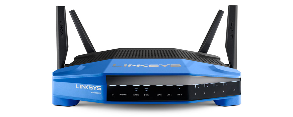 The Linksys WRT1900ACS is a three-stream device with open-source firmware and four antennae.