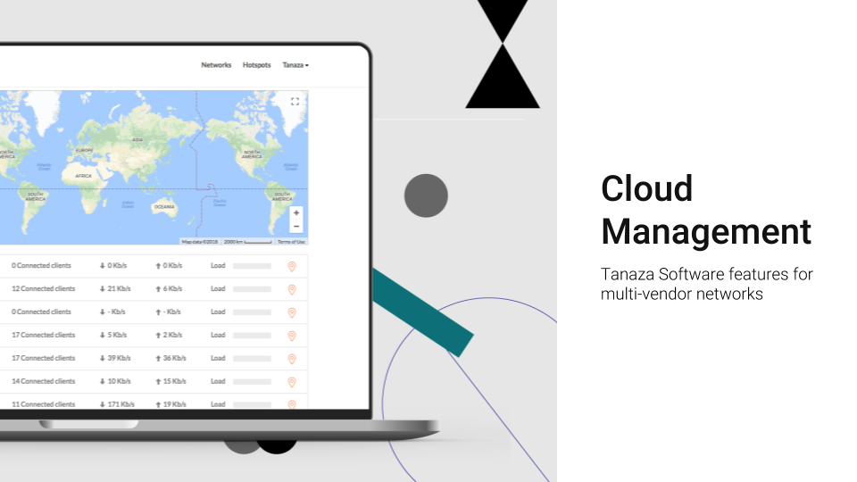 Cloud management software: control and monitor WiFi networks remotely