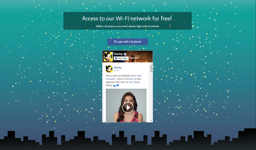 Access to WiFi Network for Free