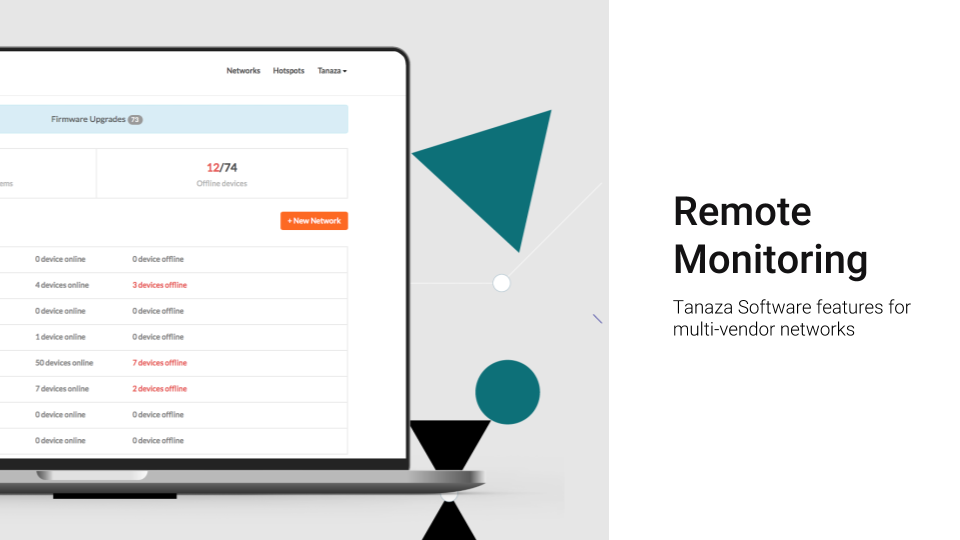 Remote monitoring: control and monitor WiFi networks remotely