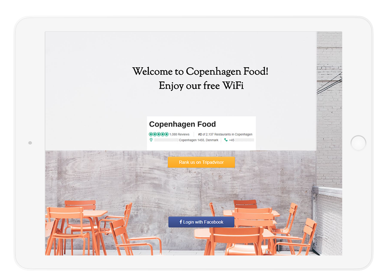 Welcome to Copenghanen Food Free WiFi