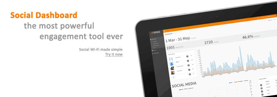 Social Dashboard Wi-Fi networks