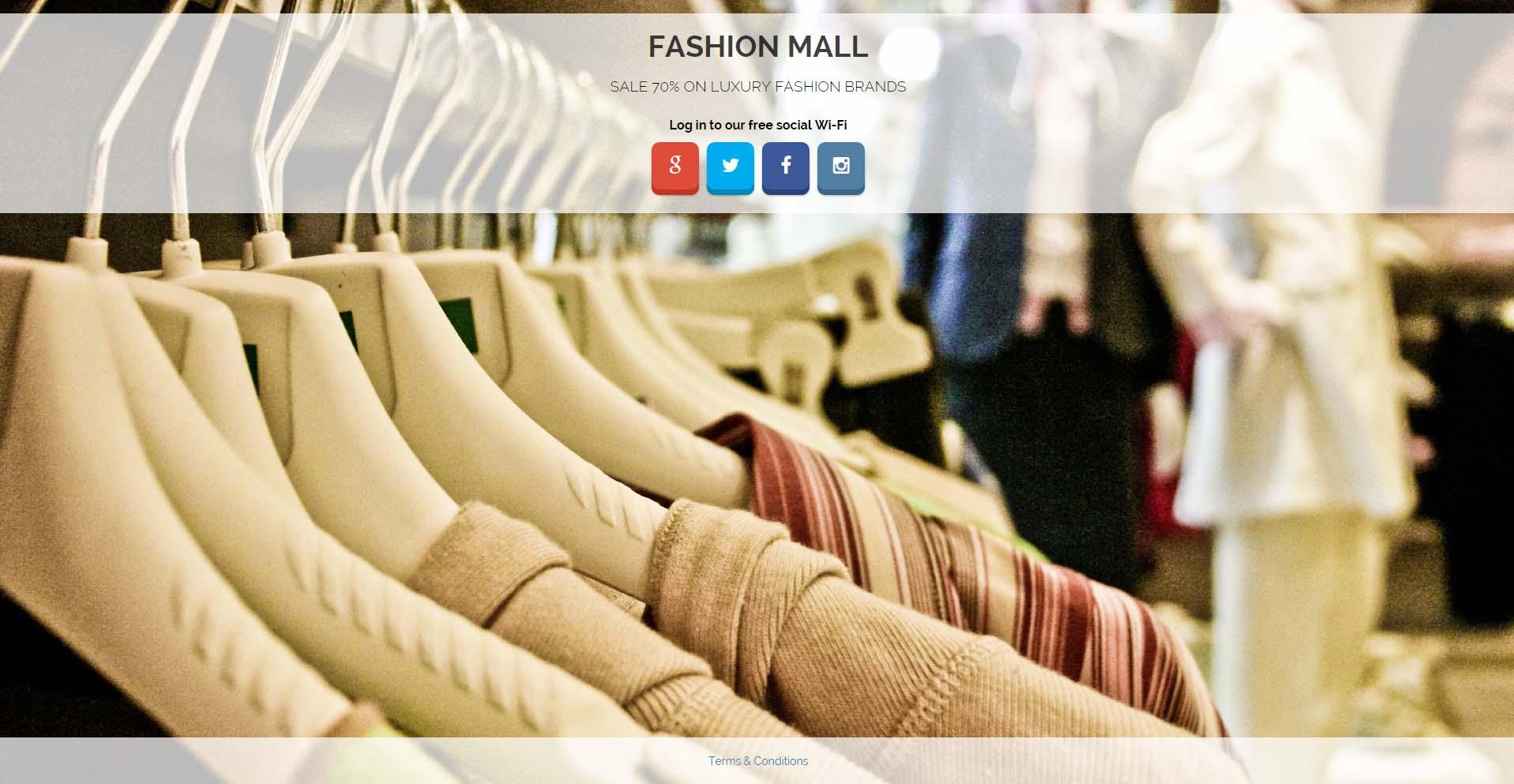 Free Social WiFi for Fashion Mall
