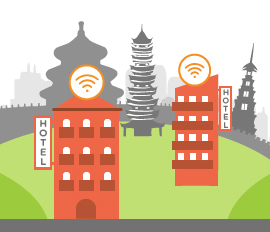 Wi-Fi for hotels and holiday apartments