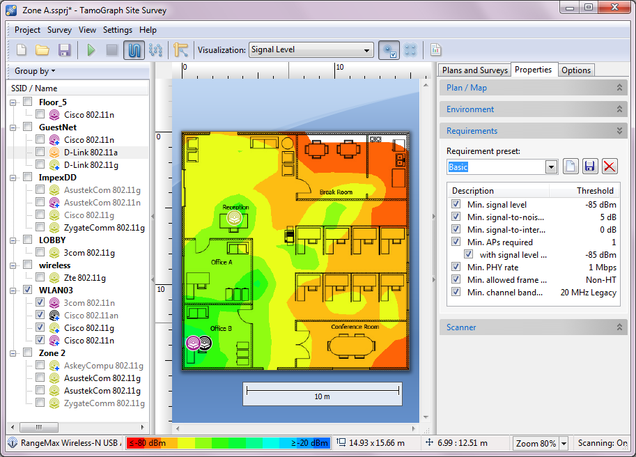 TamoGraph - Site Survey tool for WLAN