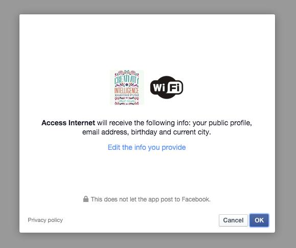 USER Facebook check-in permission