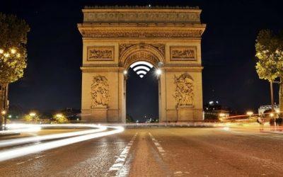 Free public Wi-Fi on Champs-Elysées