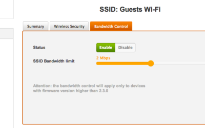 Bandwidth Control for your cloud-based Wi-Fi