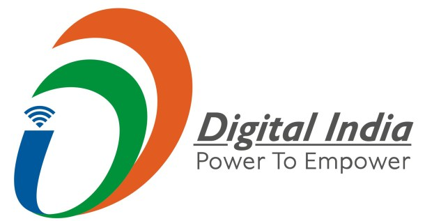Narendra Modi, the prime minister of India, together with Satya Nadella, Microsft CEO, and Sundar Pichai, Google CEO, present the Digital India programme that will help solve the current digital divide and will lead to transformative results globally, especially for India and the United States. Digital India Logo