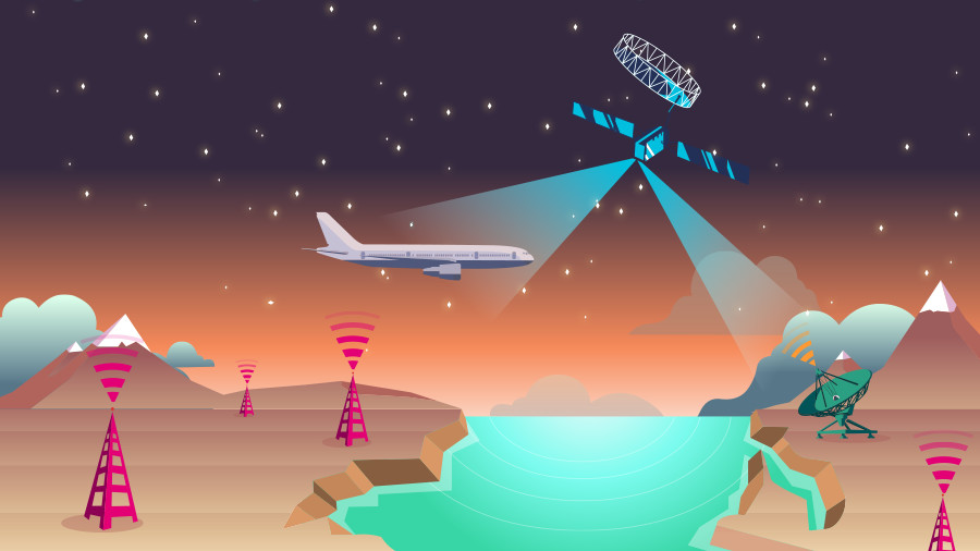 Lufthansa Airlines is the first European airline to trial the European Aviation Network developed by Deutsche Telekom and Inmarsat, an in-flight 4G broadband network experience using on-ground LTE sites and custom-designed satellite networks.