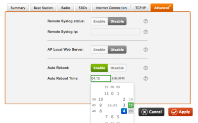 Cloud-based Wi-Fi improved: scheduled reboot and dashboard