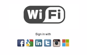Wi-Fi splash page - social login