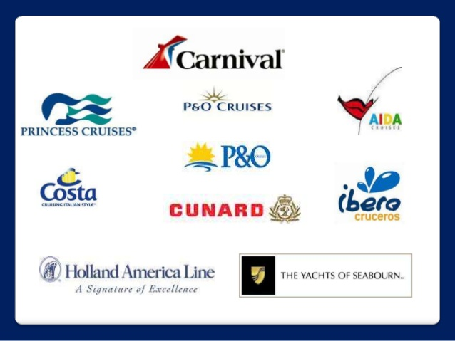 As consumers now have an urgent need to stay connected at all times, Carnival Corporation & PLC uses networks like WiFi@Sea with its high bandwidth internet coverage to capably serve the need of consumers for a fast, stable Internet connection when they cruise - carnival corporation brand logos