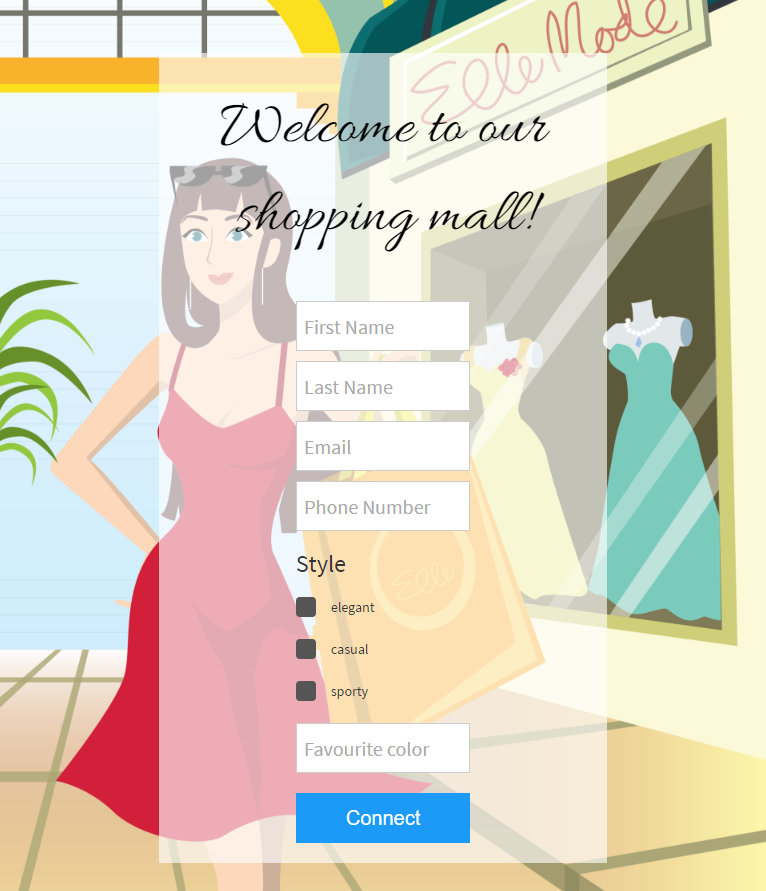 shopping mall form based authentication wifi login through captive portal