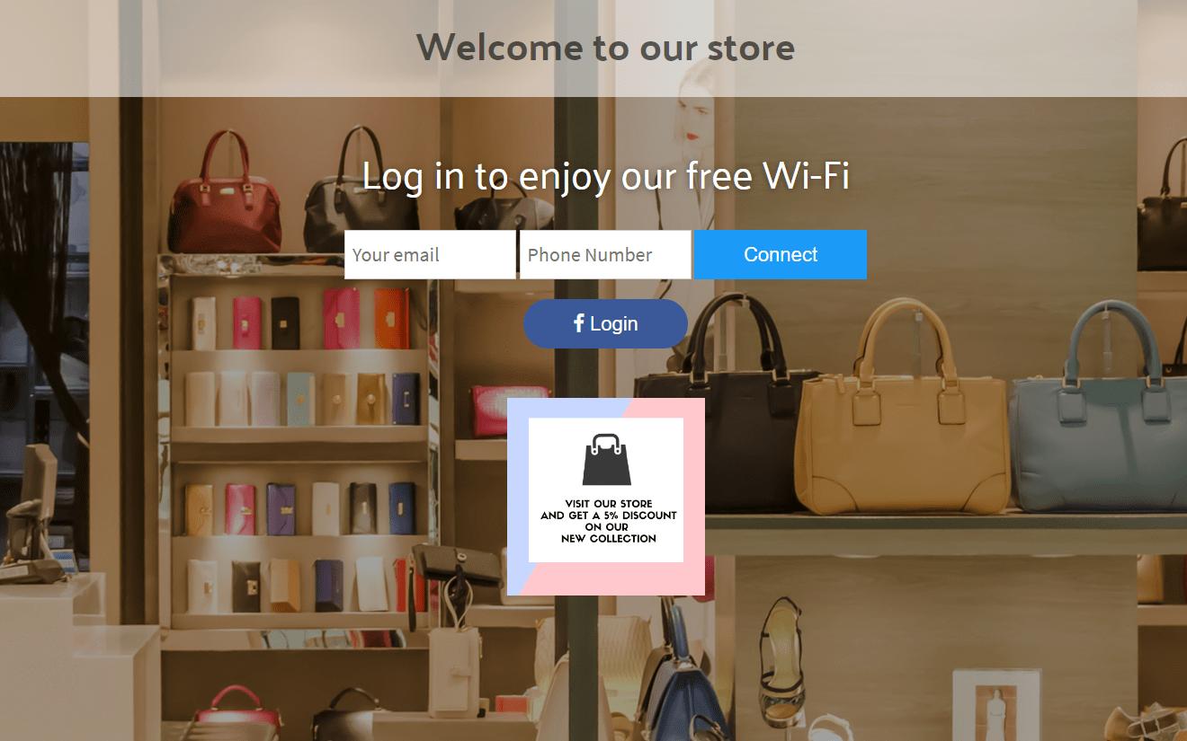 login page - shop