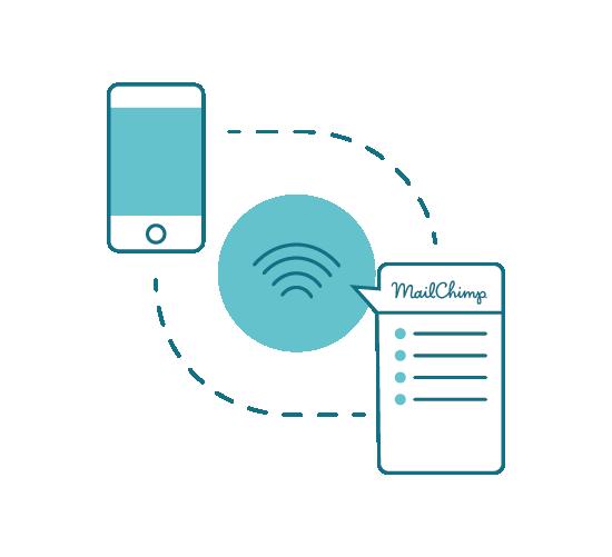 Mailchimp connector - ti permette di aggiungere automaticamente un nuovo indirizzo email ottenuto tramite Tanaza Wi-Fi a una lista utenti Mailchimp, per effettuare campagne di marketing anche automatizzate