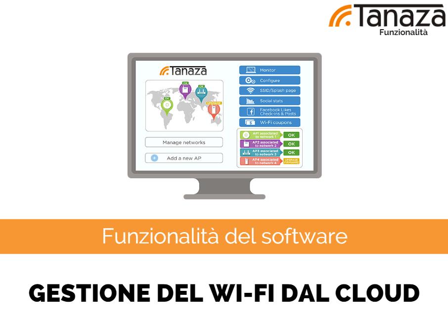 Screenshot gestione del Wi-Fi dal cloud