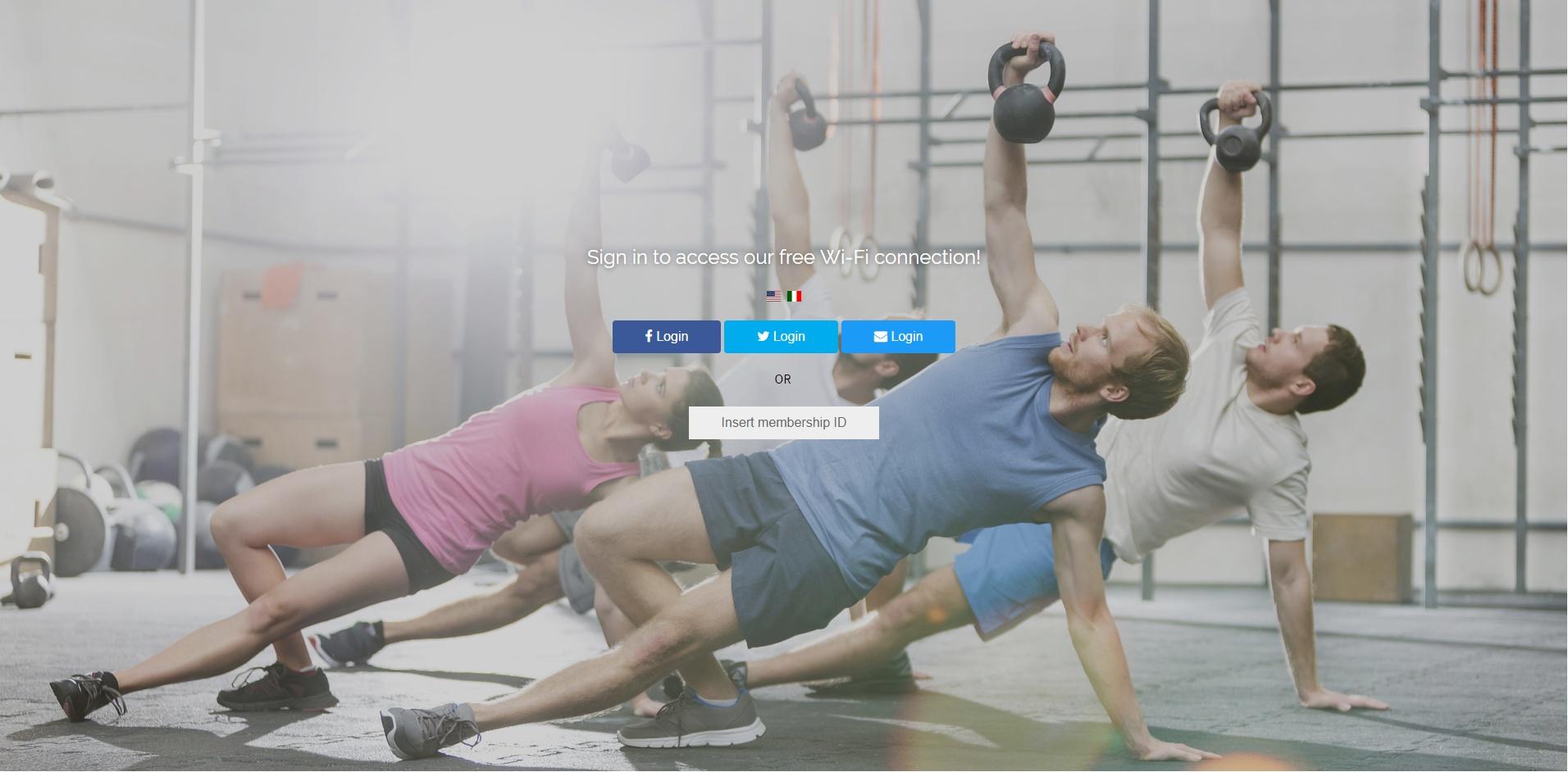 Gym splash page