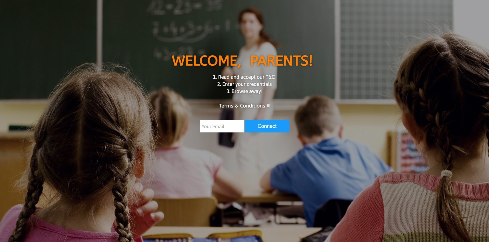 school splash page