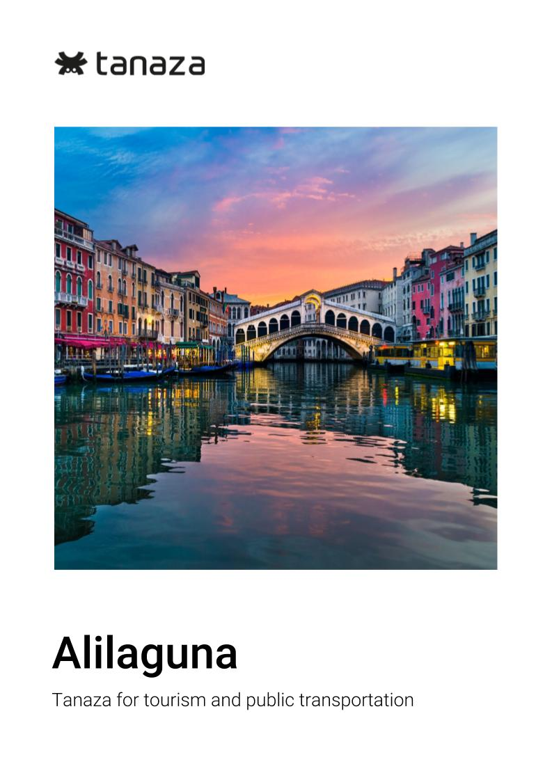 Alilaguna Venice - Tanaza for Tourism and Public Transportation