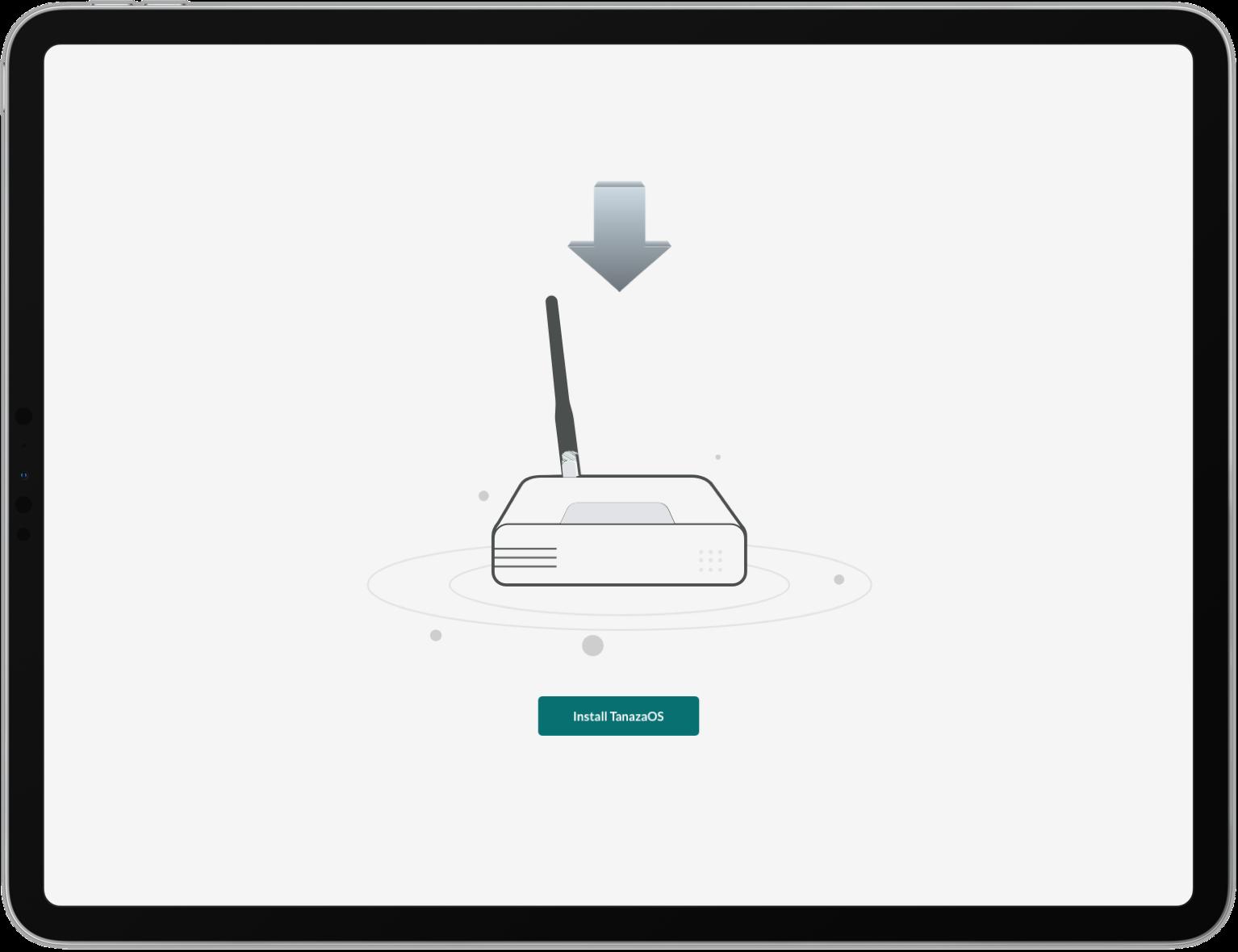 TanazaOS web interface - list of WiFi SSID