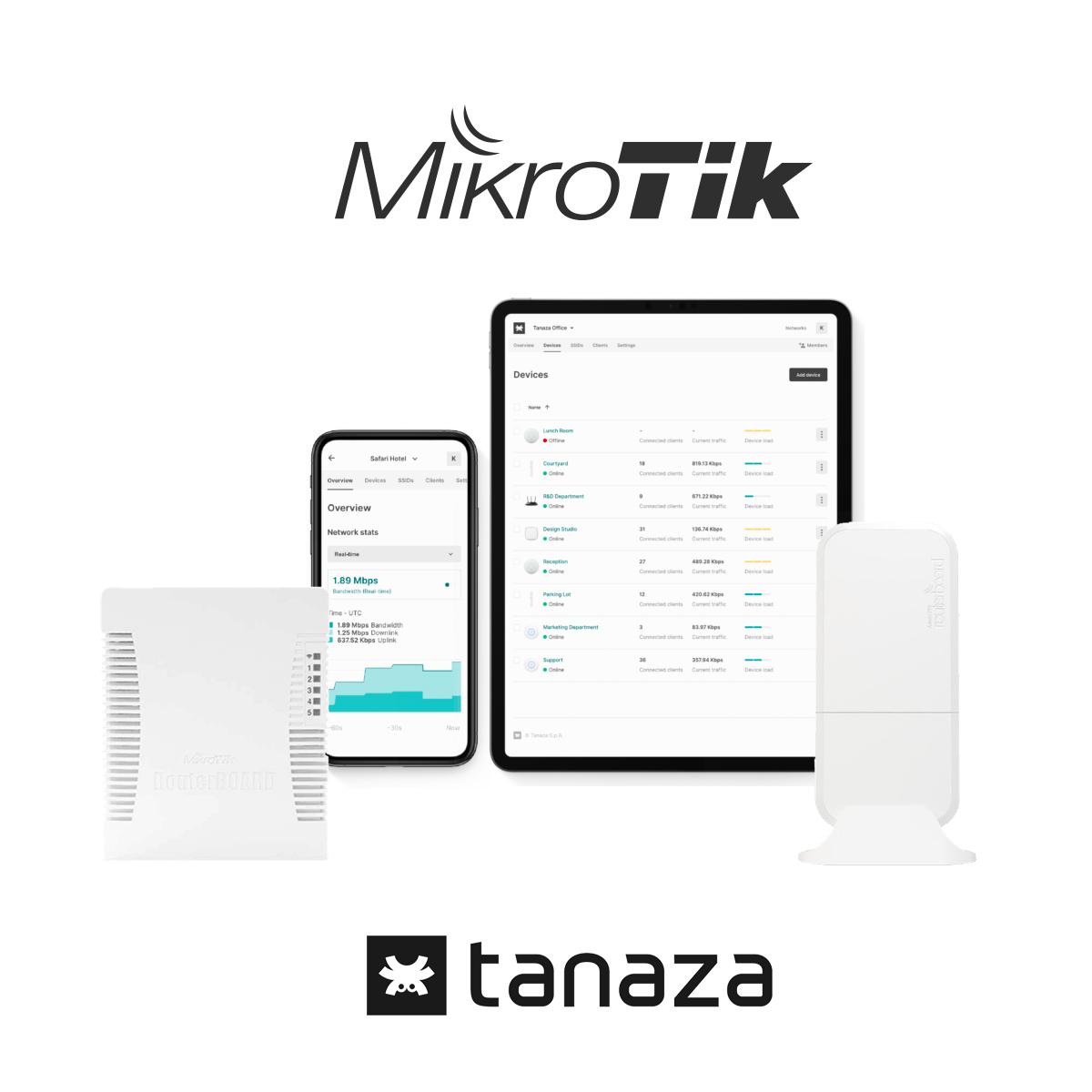 Manage Mikrotik Devices with Tanaza